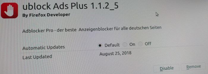 Firefox Malware Addon Screenshot