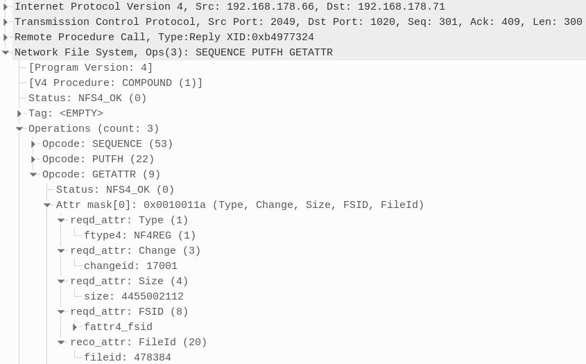 Wireshark NFS details